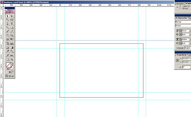 Make a print ready 1 colour business card in adobe illustrator once colourmoves